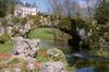 Méréville, le pont de roches et le château. Domaine départemental de Méréville, CG91, 2009 - image/jpeg