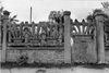 Athis-Mons, Rue Henri Barbusse, Clôture en Ciment armé. Busson François, photog. 1984  - image/jpeg