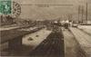 Juvisy-sur-Orge, la gare de juvisy, la plus grande gare du monde, effets d'orage; S.E. [années 1910-1920] - image/jpeg